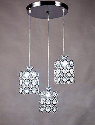 Diamond Life Modern Led Crystal Chandelier Chrome Finish In Hurst 1 Light Single Cylinder Pendants (Image 9 of 25)