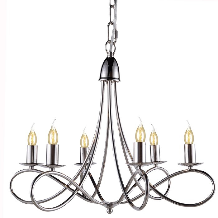 Diaz 6 Light Candle Style Chandelier Intended For Diaz 6 Light Candle Style Chandeliers (Image 11 of 20)
