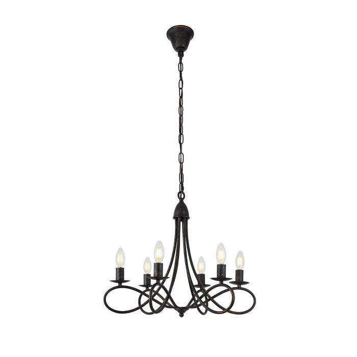 Diaz 6 Light Candle Style Chandelier Pertaining To Diaz 6 Light Candle Style Chandeliers (Image 12 of 20)