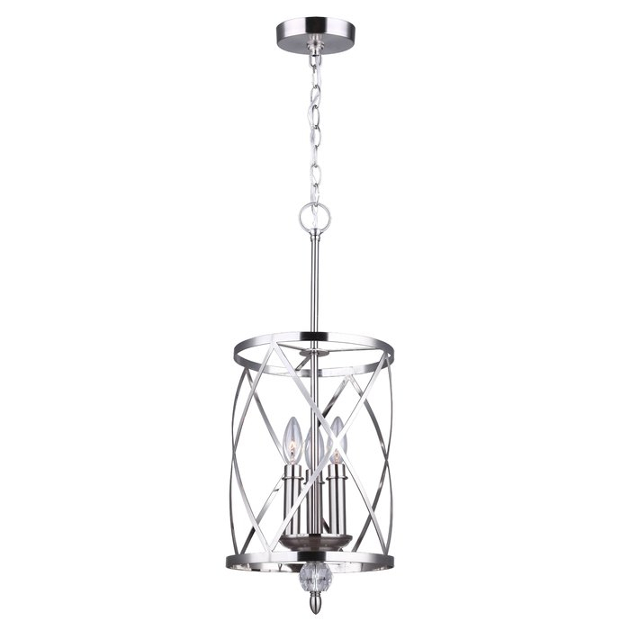 Dirksen 3 Light Single Cylinder Pendant In Poynter 1 Light Single Cylinder Pendants (View 14 of 25)