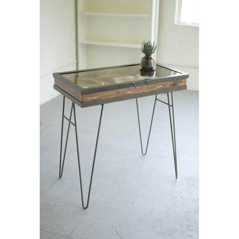 Display Table With Hinged Glass Top | Furniture In 2019 In Carson Carrington Arendal Guitar Pick Nesting Coffee Tables (View 22 of 25)