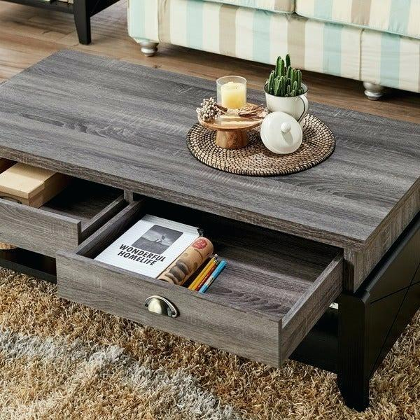 Distressed Grey Coffee Table – Theworksrec (View 18 of 25)