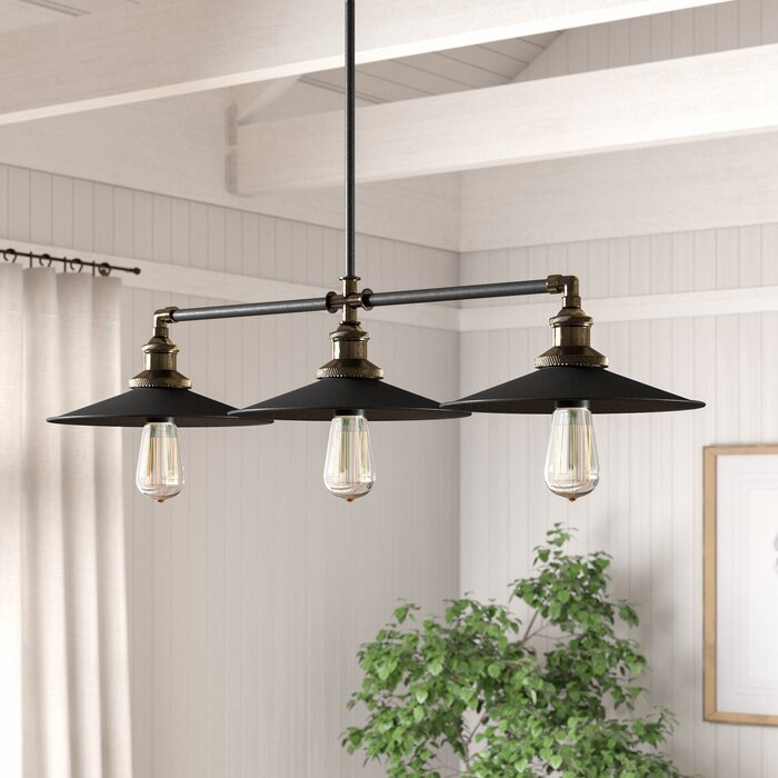 Dobson 3 Light Kitchen Island Linear Pendant For Euclid 2 Light Kitchen Island Linear Pendants (View 12 of 25)