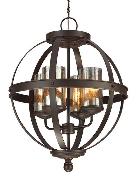 Donna 4 Light Globe Chandelier   Lighting   Mercury Glass In Donna 4 Light Globe Chandeliers (Image 6 of 20)