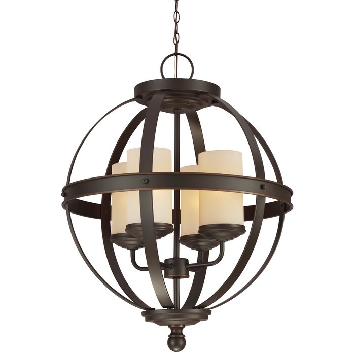 Donna 4 Light Globe Chandelier With Regard To Donna 4 Light Globe Chandeliers (Image 10 of 20)