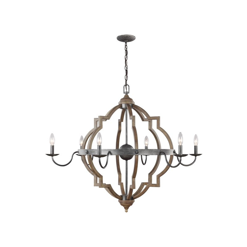 Donna 6 Light Candle Style Chandelier Intended For Hamza 6 Light Candle Style Chandeliers (View 15 of 20)
