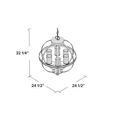 Donna 6 Light Globe Chandelier   Joss & Main In Donna 6 Light Globe Chandeliers (Image 6 of 20)