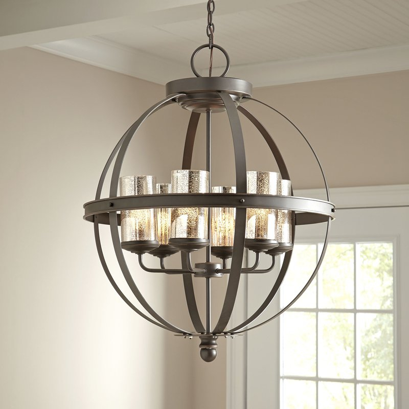 Donna 6 Light Globe Chandelier Pertaining To Donna 4 Light Globe Chandeliers (View 7 of 20)