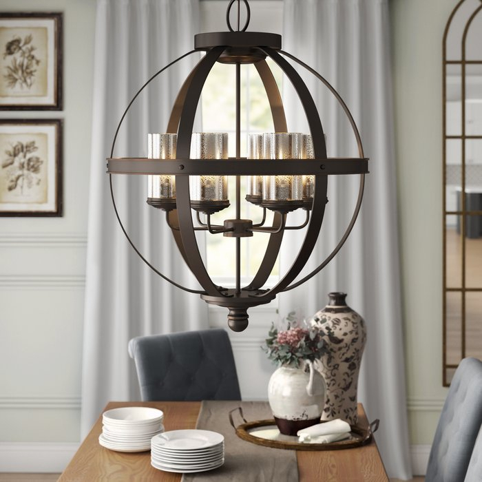 Donna 6 Light Globe Chandelier Pertaining To Donna 6 Light Globe Chandeliers (Image 10 of 20)