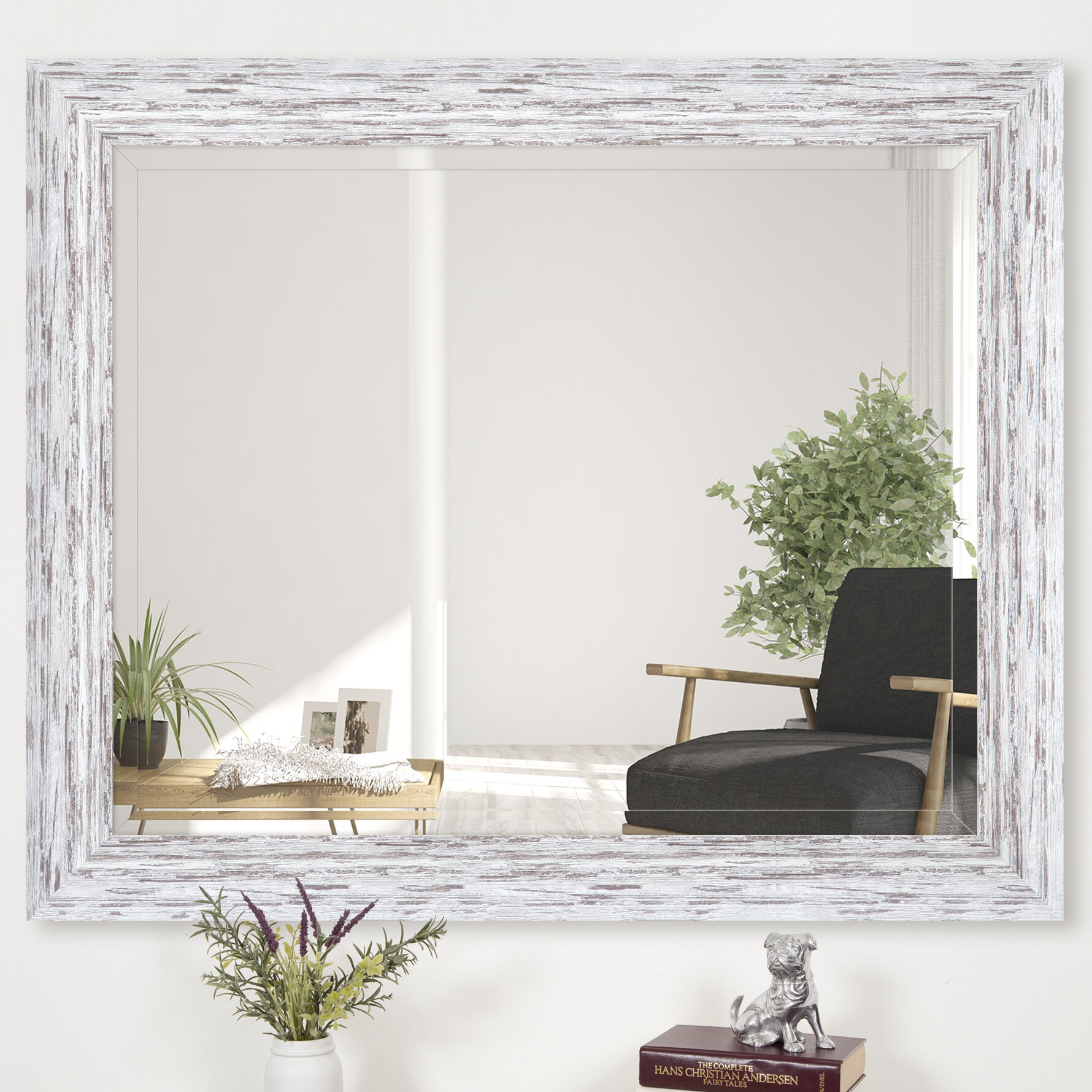 Dorothea Scoop Framed Beveled Accent Mirror Regarding Ansgar Accent Mirrors (View 9 of 20)