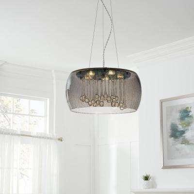 Drum – Pendant Lights – Lighting – The Home Depot Inside Vincent 5 Light Drum Chandeliers (Image 10 of 25)