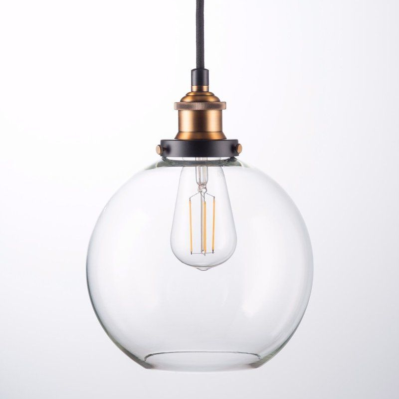 Dunneback 1 Light Single Globe Pendant In 2019 | Kitchen Intended For 1 Light Globe Pendants (Image 10 of 25)