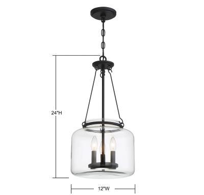 Dupage Lighting Within Emaria 3 Light Single Drum Pendants (Image 9 of 25)