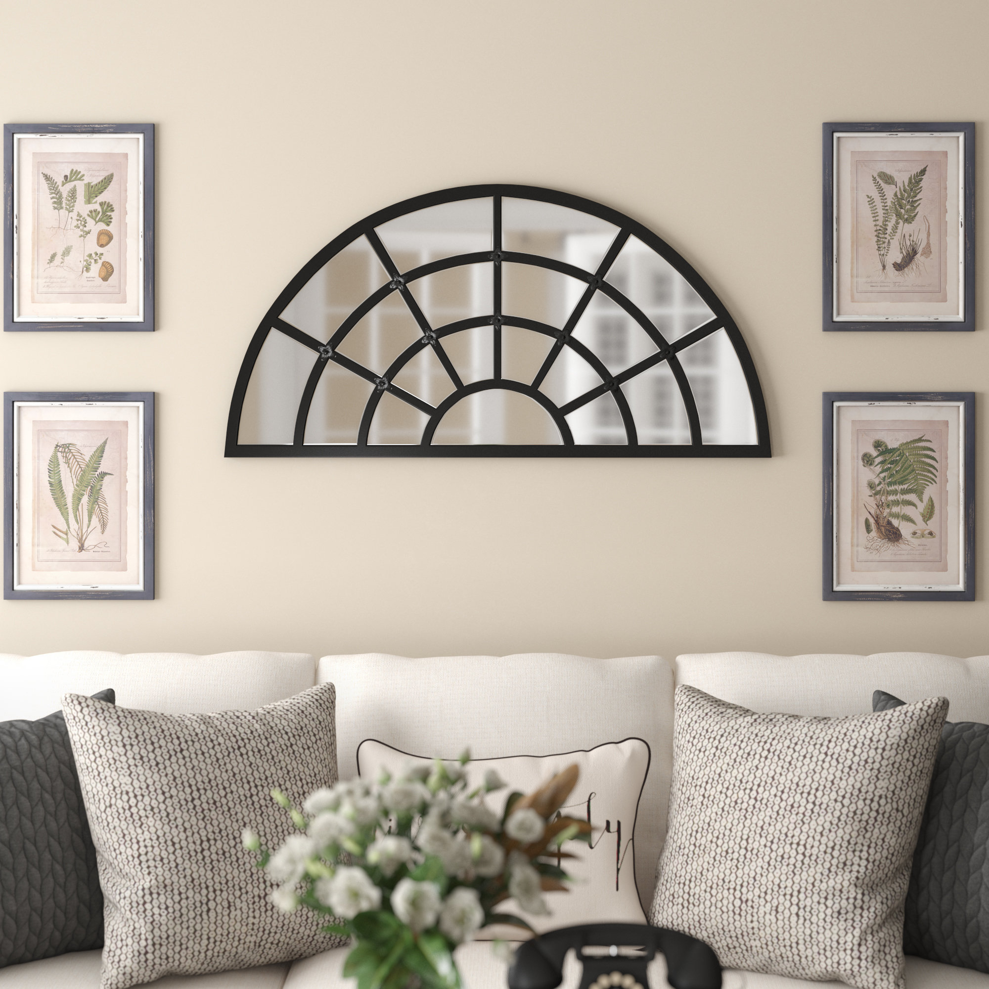 Dyer Accent Mirror Inside Yatendra Cottage/country Beveled Accent Mirrors (View 16 of 20)