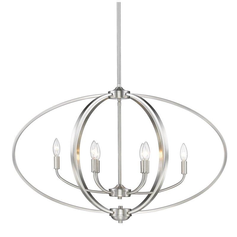 Earlene 6 Light Globe Chandelier Within Joon 6 Light Globe Chandeliers (Image 7 of 20)