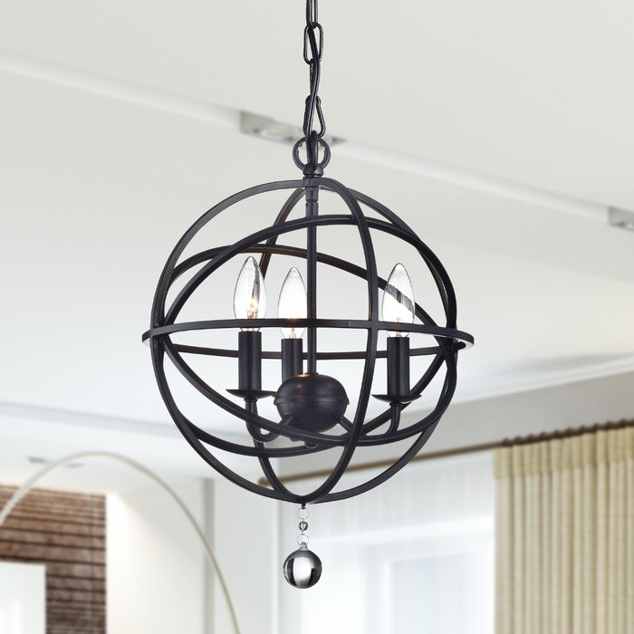 Eastcote 3 Light Globe Chandelier With La Barge 3 Light Globe Chandeliers (View 9 of 20)