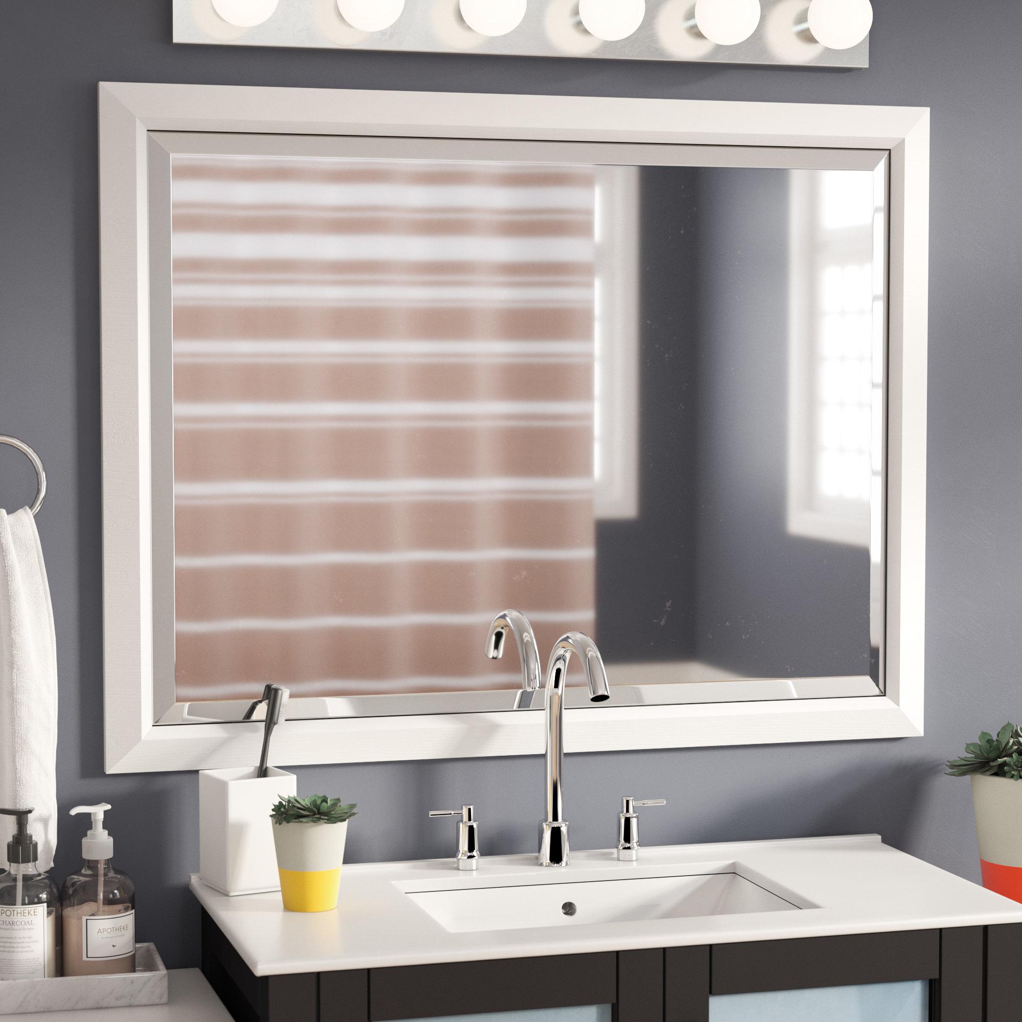 Ebern Designs Wilkes Bathroom/vanity Mirror Regarding Northend Wall Mirrors (View 6 of 20)