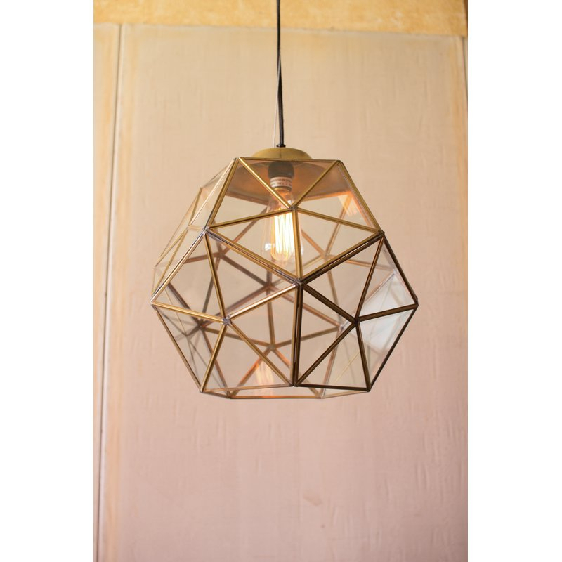 Edelman Glass 1 Light Lantern Pendant Throughout Delon 1 Light Lantern Geometric Pendants (Image 17 of 20)