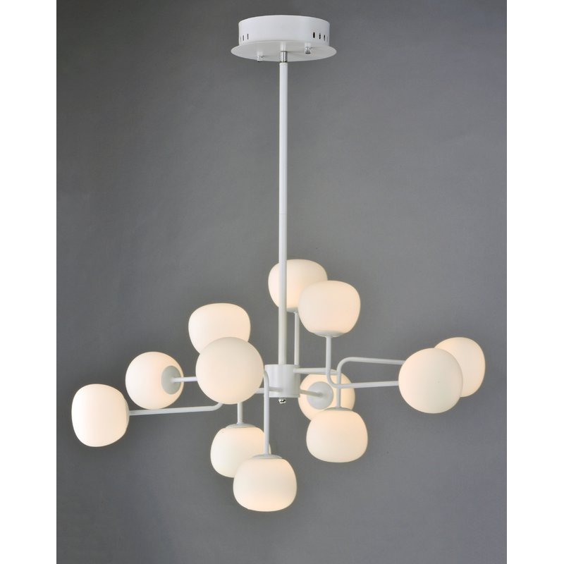 Edford 12 Light Led Sputnik Chandelier With Vroman 12 Light Sputnik Chandeliers (Image 9 of 20)