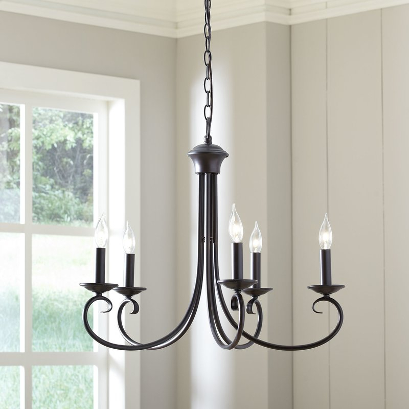 Edgell 5 Light Candle Style Chandelier With Regard To Florentina 5 Light Candle Style Chandeliers (View 12 of 20)