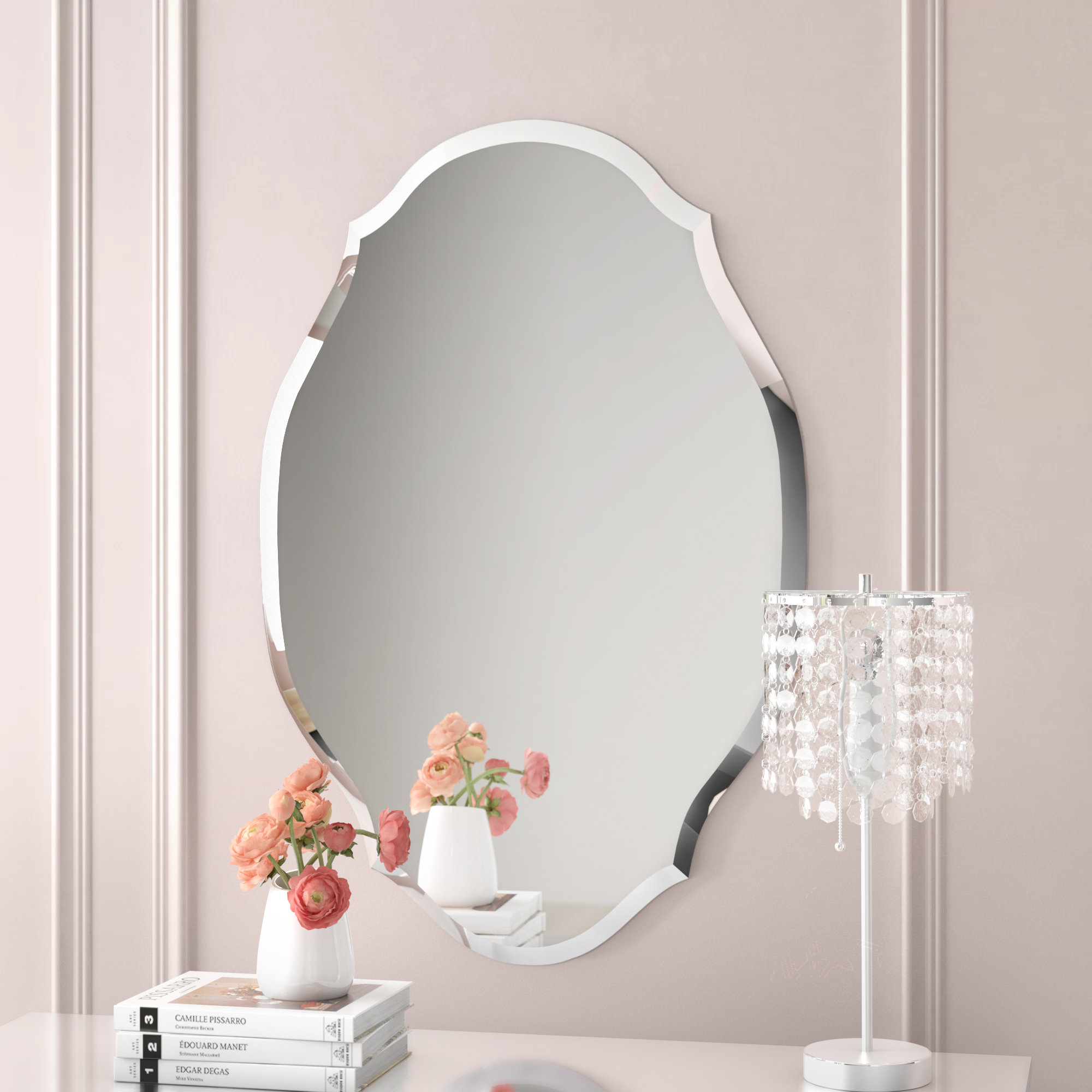 Egor Accent Mirror Pertaining To Estefania Frameless Wall Mirrors (Photo 8 of 20)