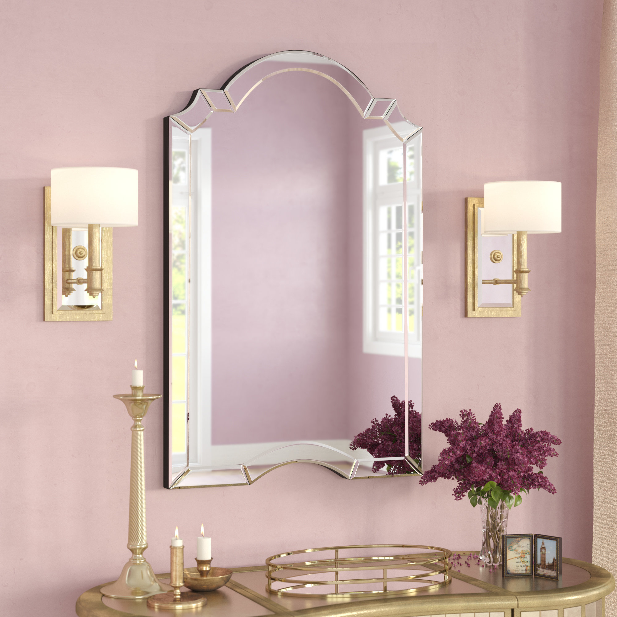 Featured Image of Ekaterina Arch/crowned Top Wall Mirrors