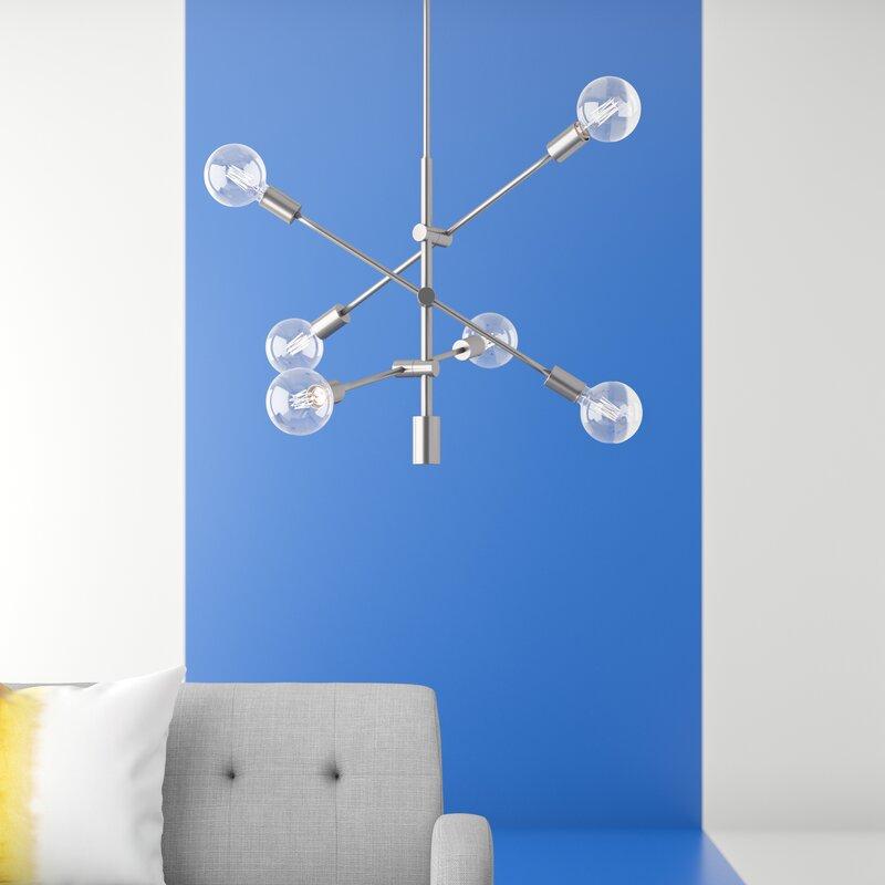 Eladia 6 Light Sputnik Chandelier Throughout Eladia 6 Light Sputnik Chandeliers (View 3 of 20)