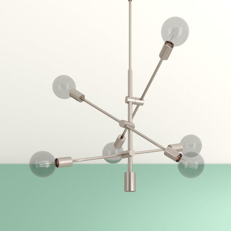 Eladia 6 Light Sputnik Chandelier Throughout Eladia 6 Light Sputnik Chandeliers (View 2 of 20)