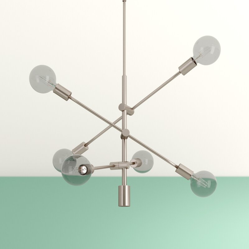 Eladia 6 Light Sputnik Chandelier With Eladia 6 Light Sputnik Chandeliers (View 7 of 20)