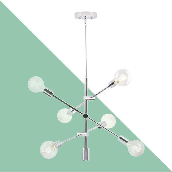 Eladia 6 Light Sputnik Chandelier With Regard To Eladia 6 Light Sputnik Chandeliers (View 5 of 20)