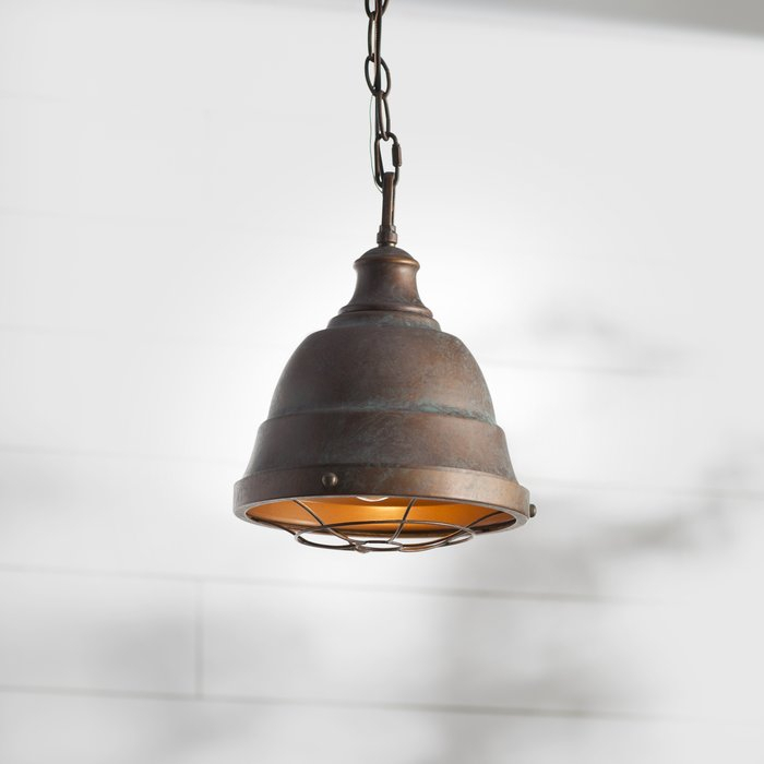 Elinna 1 Light Single Bell Pendant Pertaining To Erico 1 Light Single Bell Pendants (View 6 of 25)