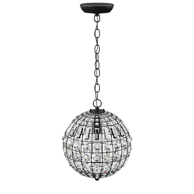 Elivra 1 Light Single Globe Pendant Inside Poynter 1 Light Single Cylinder Pendants (View 21 of 25)