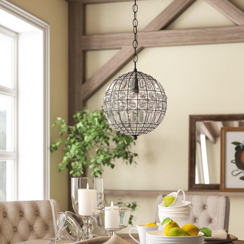 Elivra 1 Light Single Globe Pendant Pertaining To Alden 3 Light Single Globe Pendants (View 20 of 20)