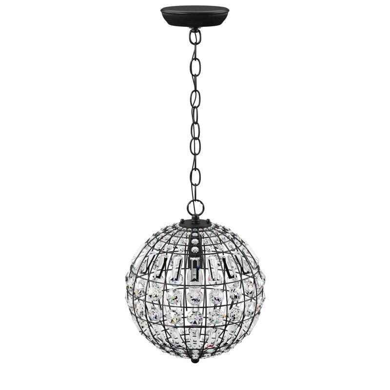 Elivra 1 Light Single Globe Pendant Throughout Alden 3 Light Single Globe Pendants (View 15 of 20)