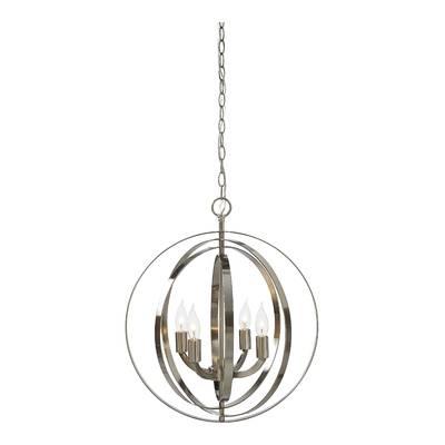 Elivra 1 Light Single Globe Pendant Within Hendry 4 Light Globe Chandeliers (Image 3 of 20)
