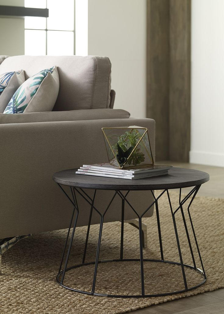 Elle Decor Fleur Coffee Table Black — You Can Find More Intended For Carmella Satin Plated Coffee Tables (View 48 of 50)