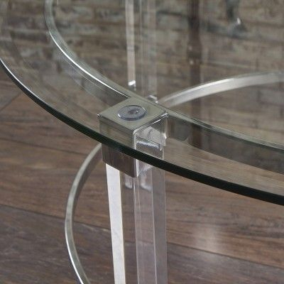 Elowen Modern Round Coffee Table Clear – Christopher Knight Within Elowen Round Glass Coffee Tables (View 14 of 25)