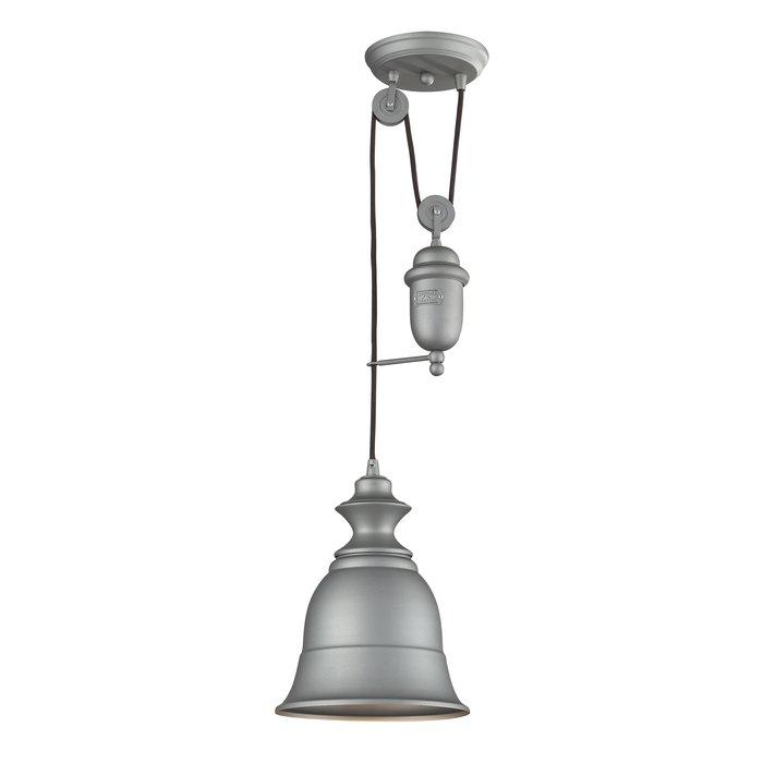 Elsenborn 1 Light Single Bell Pendant Inside Adriana Black 1 Light Single Dome Pendants (Image 17 of 25)