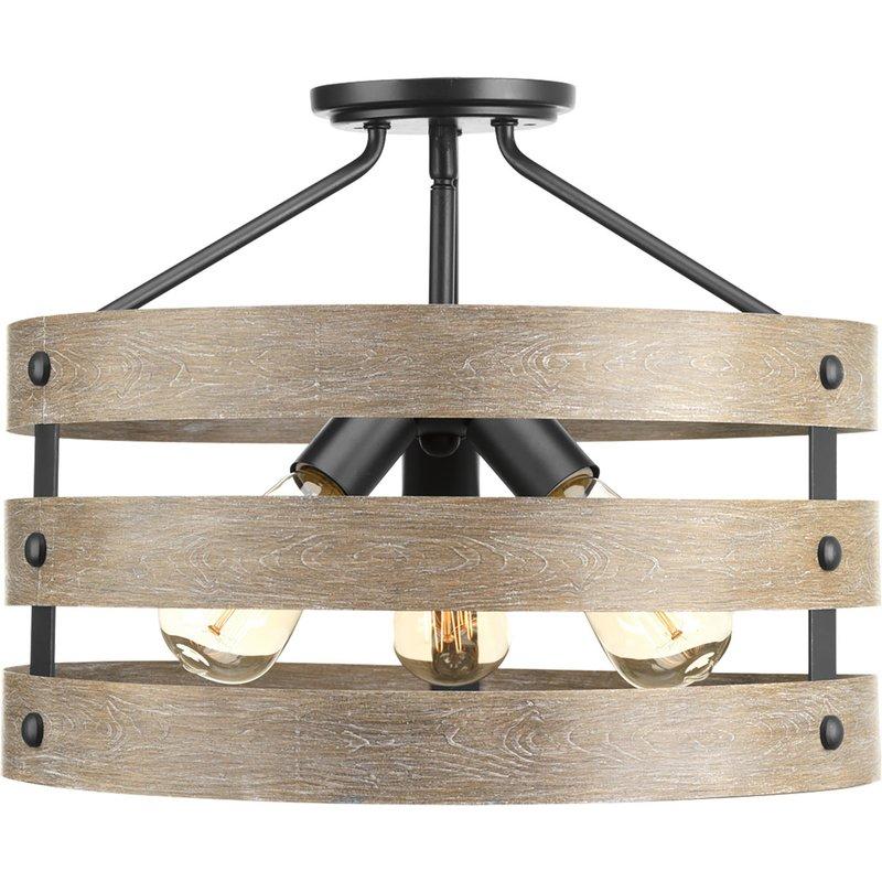 Emaria 3 Light Single Drum Pendant With Emaria 3 Light Single Drum Pendants (Image 16 of 25)
