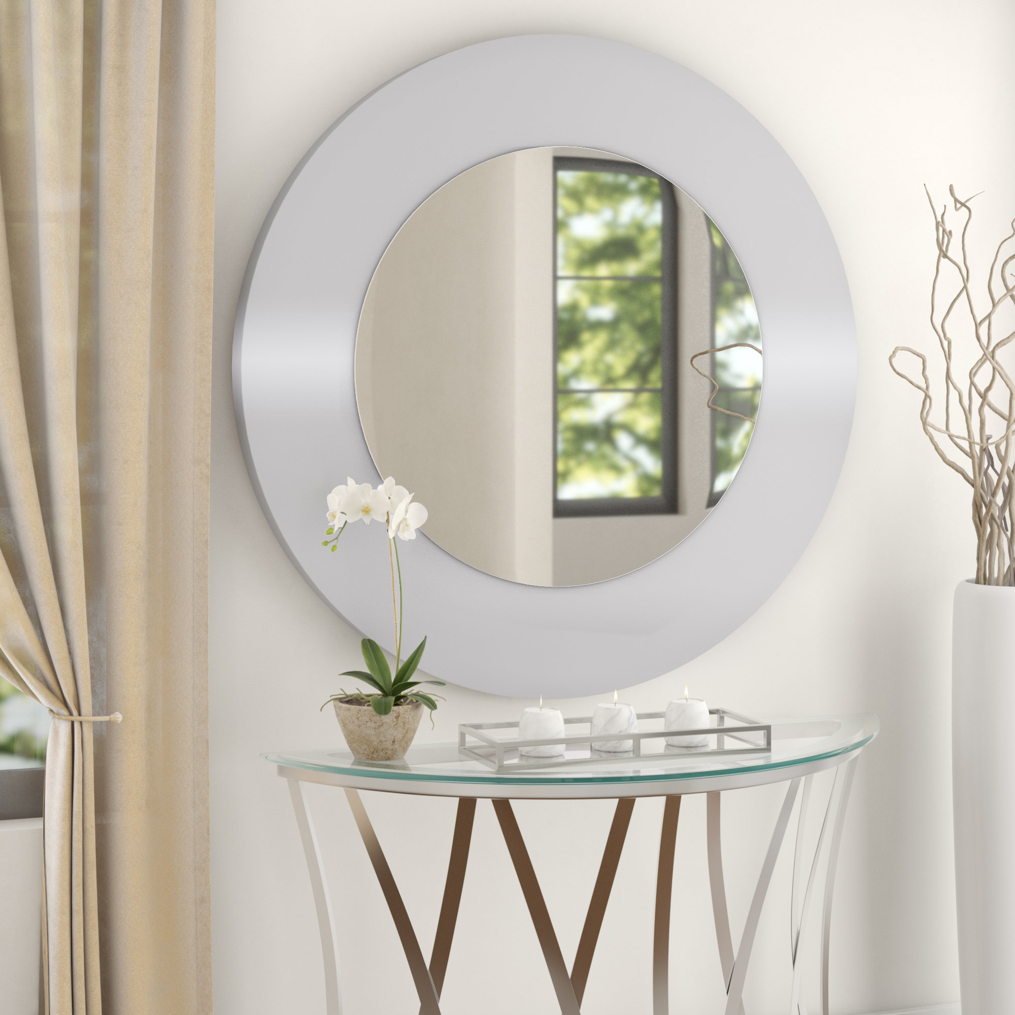 Emmaus Wall Mirror With Mahanoy Modern And Contemporary Distressed Accent Mirrors (Image 6 of 20)