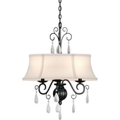 Empire – Bronze – Chandeliers – Lighting – The Home Depot Within Berenice 3 Light Cluster Teardrop Pendants (View 17 of 25)