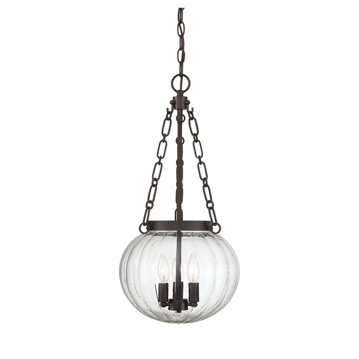 Emrick 3 Light Single Globe Pendant Within Kilby 1 Light Pendants (View 10 of 25)