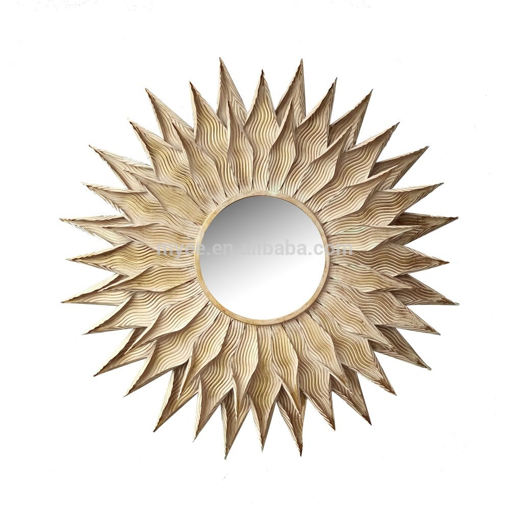 Emulational Sun Flower Shaped Decorative Wall Mirror – Buy Unique Wall Mirrors,sun Shaped Wall Mirror,fancy Wall Mirrors Product On Alibaba Within Sun Shaped Wall Mirrors (View 12 of 20)