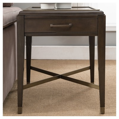 End Table Driftwood (Brown) | Products | End Tables, Table For Carbon Loft Fischer Brown Solid Birch And Iron Rustic Coffee Tables (View 19 of 25)