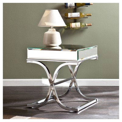 End Table Silver, Accent Tables | Products | Mirrored End With Regard To Silver Orchid Olivia Chrome Mirrored Coffee Cocktail Tables (View 6 of 25)
