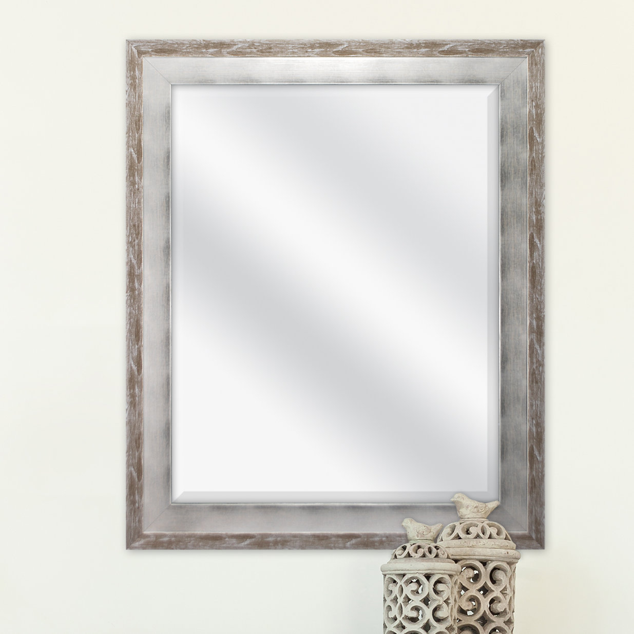 Epinal Shabby Elegance Wall Mirror Regarding Stamey Wall Mirrors (Image 6 of 20)