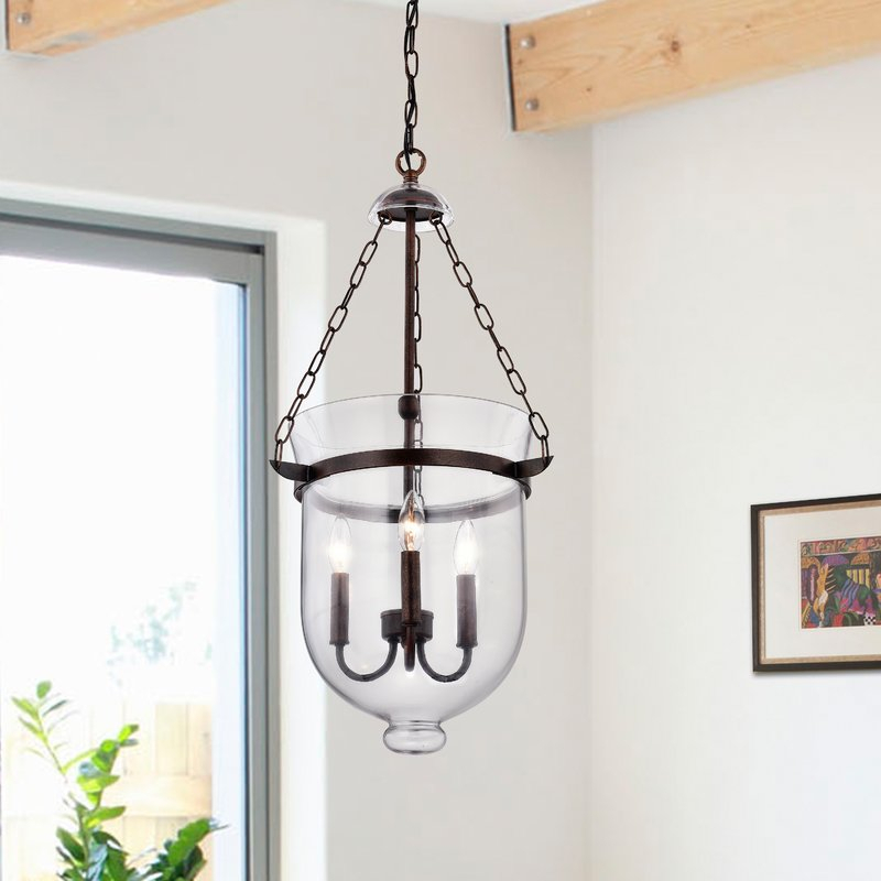 Erdmann 3 Light Single Urn Pendant In 3 Light Single Urn Pendants (Image 15 of 25)