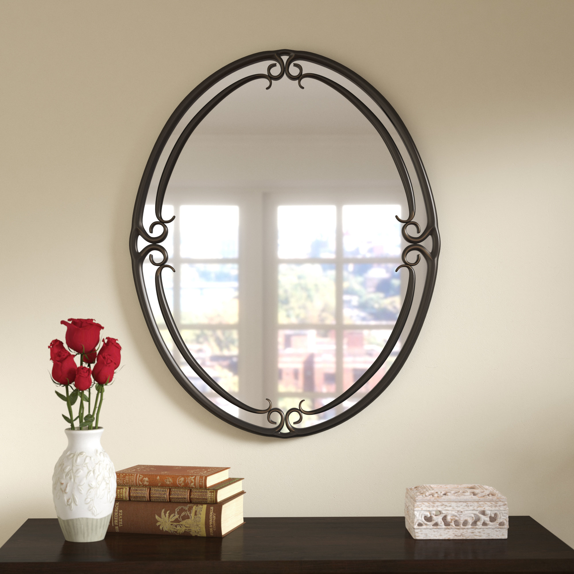 Espresso Finish Wall Mirror   Wayfair Pertaining To Polen Traditional Wall Mirrors (View 6 of 20)