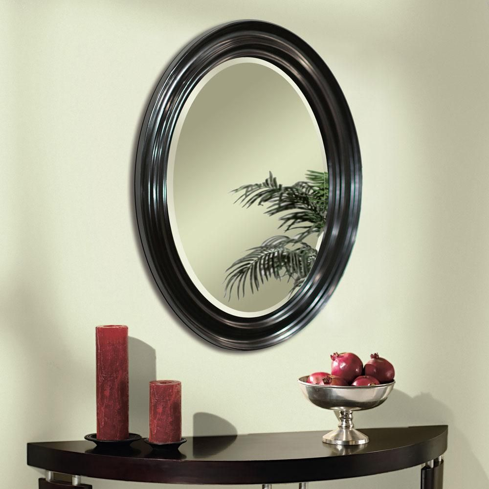 Espresso Oval Wall Mirror (8666) | Framed Mirrors | Mirror Within Burnes Oval Traditional Wall Mirrors (Image 5 of 20)