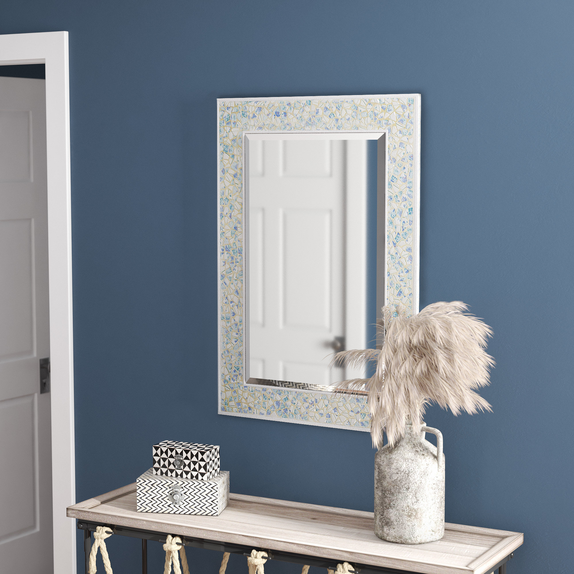 Estey Traditional Beveled Wall Mirror Pertaining To Hilde Traditional Beveled Bathroom Mirrors (Image 9 of 20)
